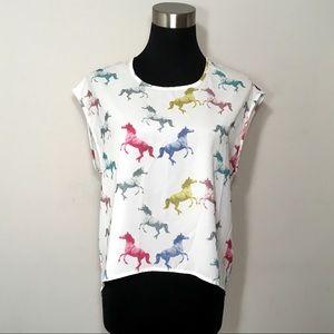 Divided Unicorn Shirt Mistical Magical Rainbow 8